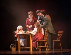 "Sinead Coll as Mrs Cratchitt in ""A Christmas Carol"" with Mark Leeman as Bob Cratchitt."
